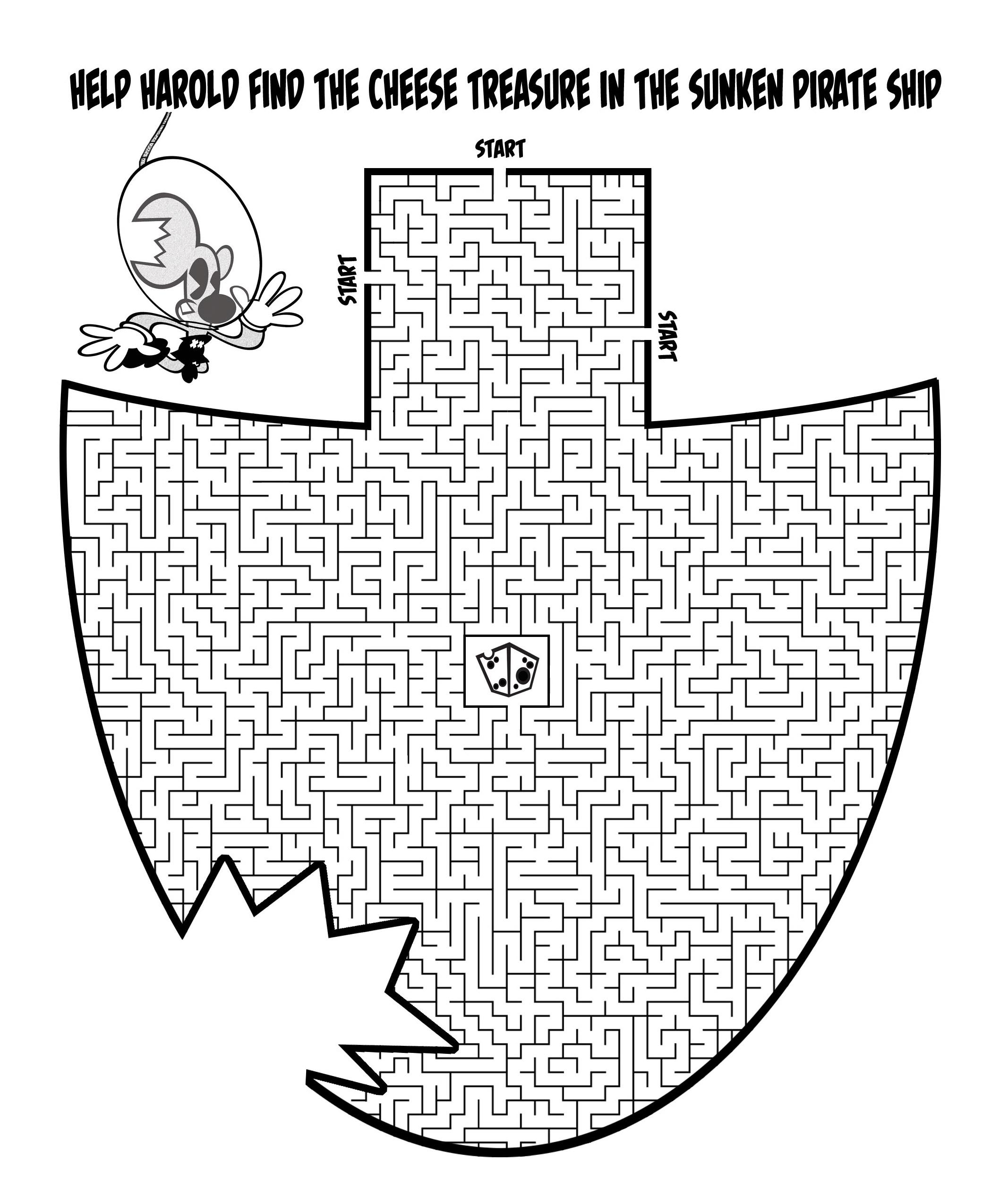 Pirate Ship Maze